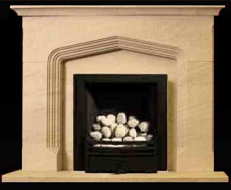 Bloomsbury Bath stone fire surround