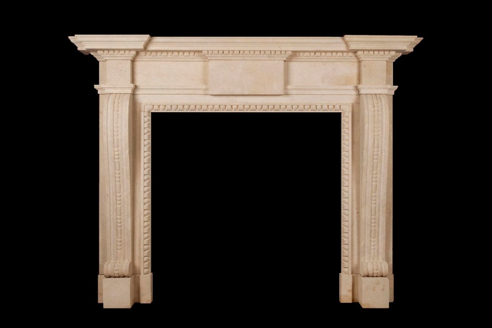 Woburn limestone fire surround