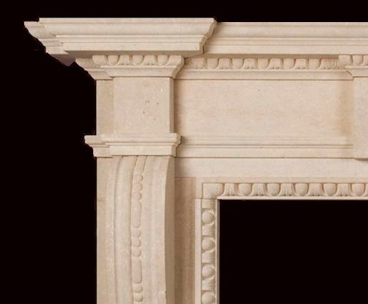 Woburn limestone fire surround  detail